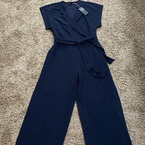 NWT Solutions one piece wide leg jumpsuit